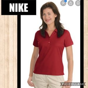 LIKE NEW NIKE Dri-Fit Red Golf Polo Sz SML